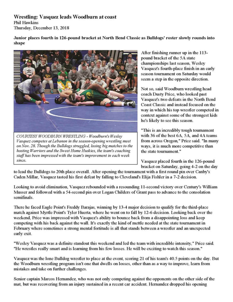 High School - Woodburn Wrestling